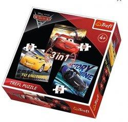 Puzzle Auta Cars 3 3w1 20,36,50  elementów