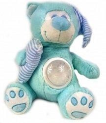 Miś Śpioszek z Projektorem Niebieski Śpiewa Kołysanki Hit