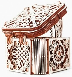 Drewniane Puzzle Mechaniczne 3d Wooden.City Mystery Box  #T1