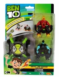 Ben 10 Omnitrix 2 Figurki Wyrzutnia Dysków Inferno Szybcior