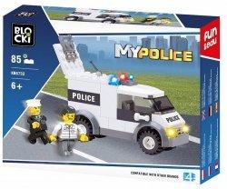 Klocki Blocki Mypolice Policja Radiowóz Furgonetka 85 el.