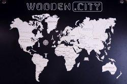 Drewniane Puzzle 3d Wooden.City - Mapa Świata Xxl  #T1