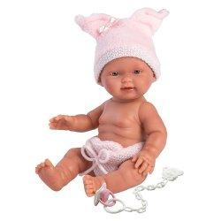 Hiszpańska lalka bobas dziewczynka Bebita Świnka – 26cm #T1