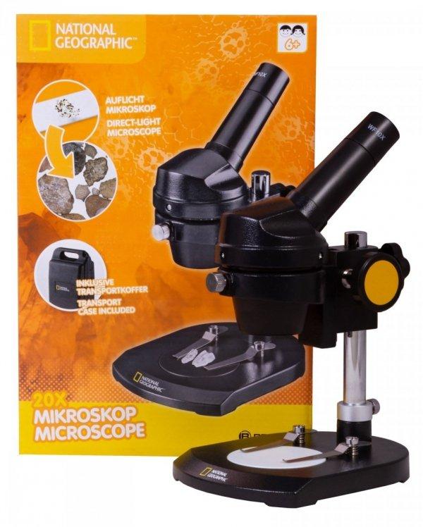 MikroskopBresser National Geographic 20x, monokularowy