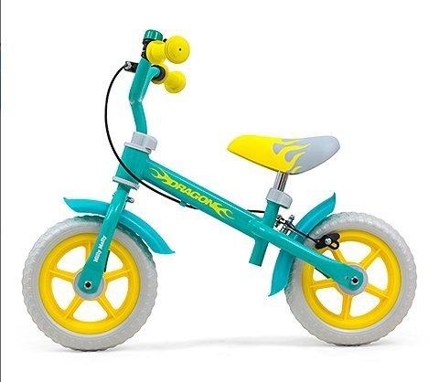 Milly Mally Rowerek biegowy Dragon z hamulcem Mint #B1