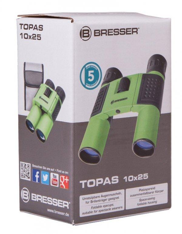 Lornetka Bresser Topas 10x25, zielony