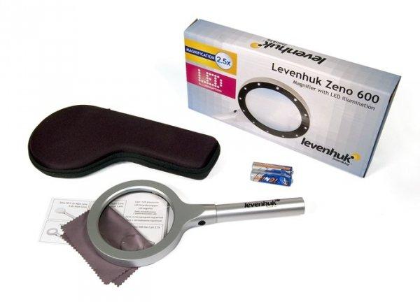 Lupa Levenhuk Zeno 400 z podświetleniem LED, 2/4x, 88/21 mm, metalowa