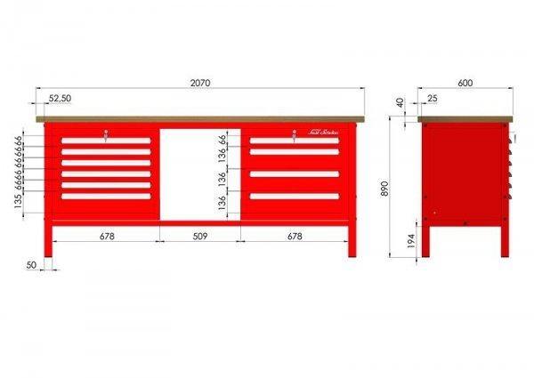 P-3-133-01 Stół warsztatowy