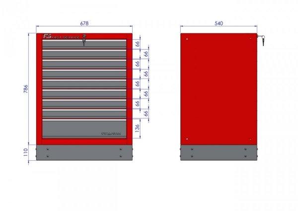 Szafka warsztatowa z 9 szufladami – T-11