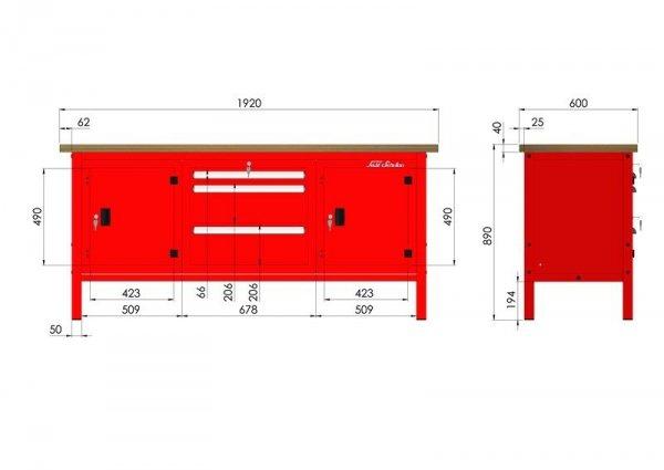 P-3-175-01 Stół warsztatowy
