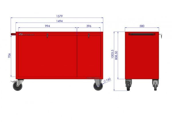 Wózek warsztatowy MEGA z 12 szufladami PM-213-15