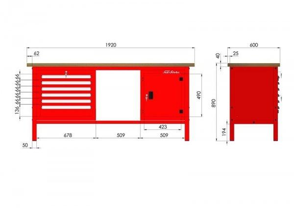 P-3-153-01 Stół warsztatowy