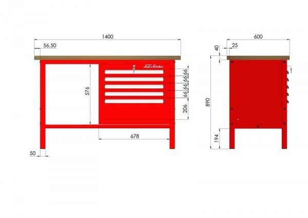 P-3-052-01 Stół warsztatowy