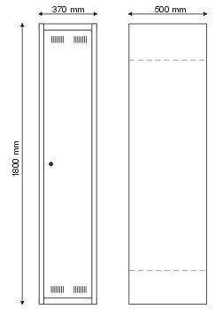 Szafa BHP dla 1 osoby / jednodrzwiowa S-2-01-00