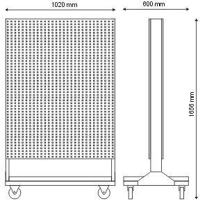 Stojak narzędziowy cały wykonany z kratownicy (dwustronny) P-5-06-02