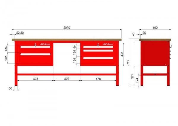 P-3-083-01 Stół warsztatowy