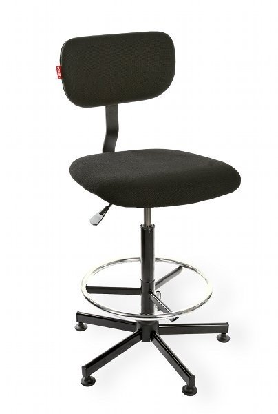 Krzesło laboratoryjne Black 01 H RING RKW-13