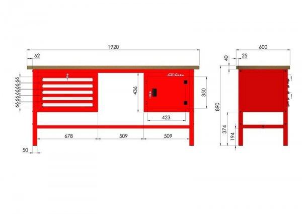 P-3-104-01 Stół warsztatowy