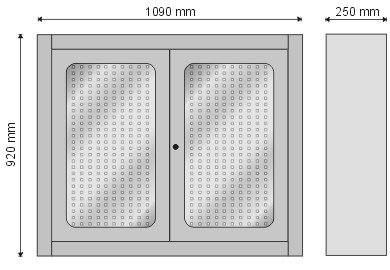 Gablota narzędziowa zamykana drzwiczkami z pleksi P-4-06-04