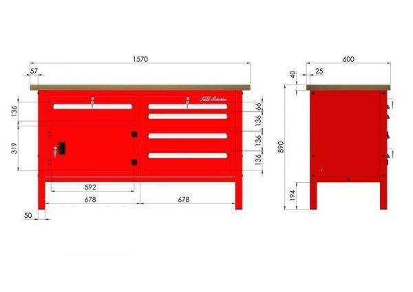 P-3-068-01 Stół warsztatowy