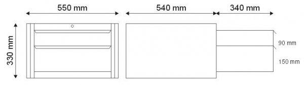 N-1-05-02 Szafka narzędziowa z 2 szufladami