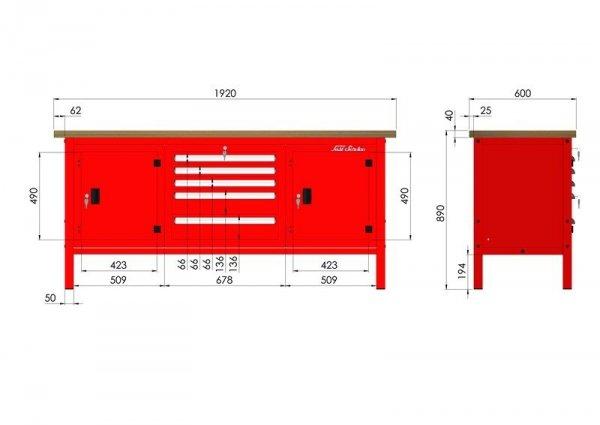 P-3-171-01 Stół warsztatowy