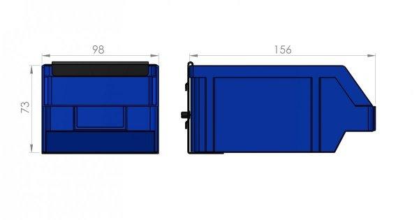 Zawieszka na pojemnik P2 98 x 156 x 73 ZW-P2