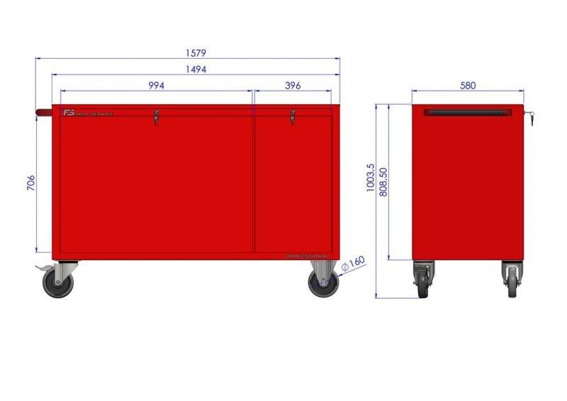 Wózek warsztatowy MEGA z 11 szufladami PM-213-18