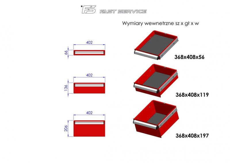 Wózek narzędziowy MEGA z 11 szufladami PM-215-20