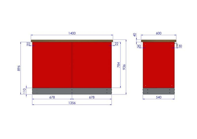 Stół warsztatowy – TK-12-40-01