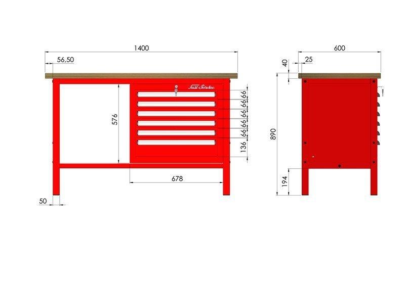 P-3-053-01 Stół warsztatowy