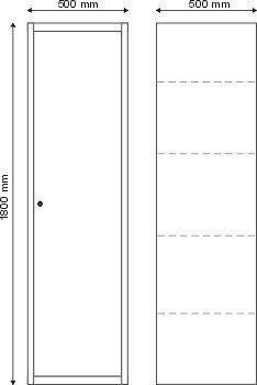 Szafa przemysłowa 1 drzwiowa (3 półki) S-1-02-00