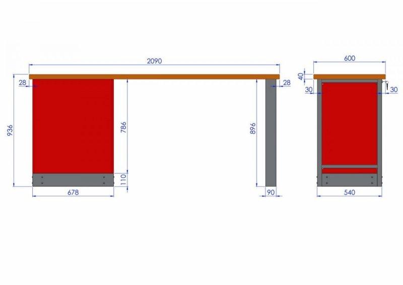 Stół warsztatowy – T-20-01