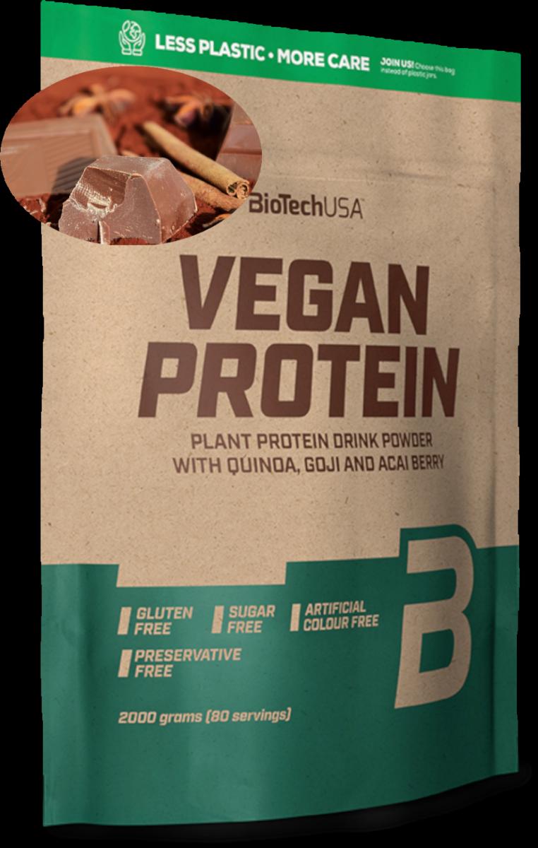 BioTech Vegan Protein 2000g czekoladowo-cynamonowe