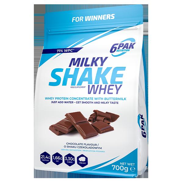6PAK Milky Shake Whey 700g Chocolate