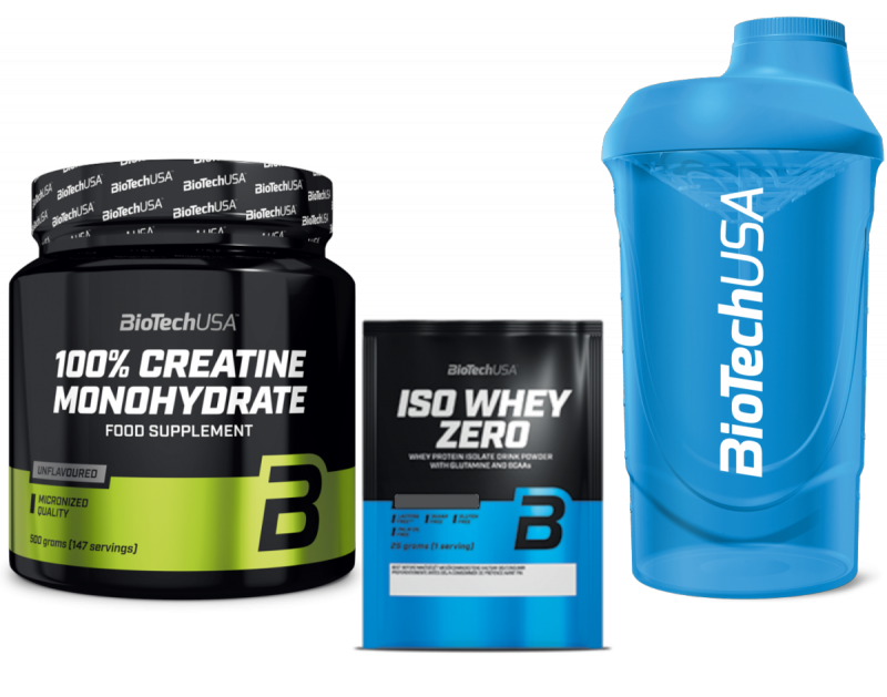 BioTechUSA Creatine Monohydrate 500g plus Gratisy