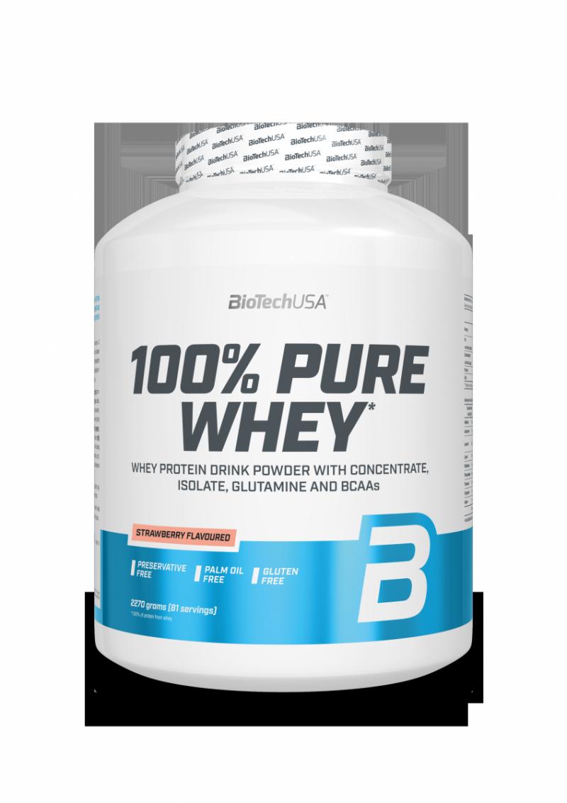 BioTechUSA 100% Pure Whey 2270g Truskawka