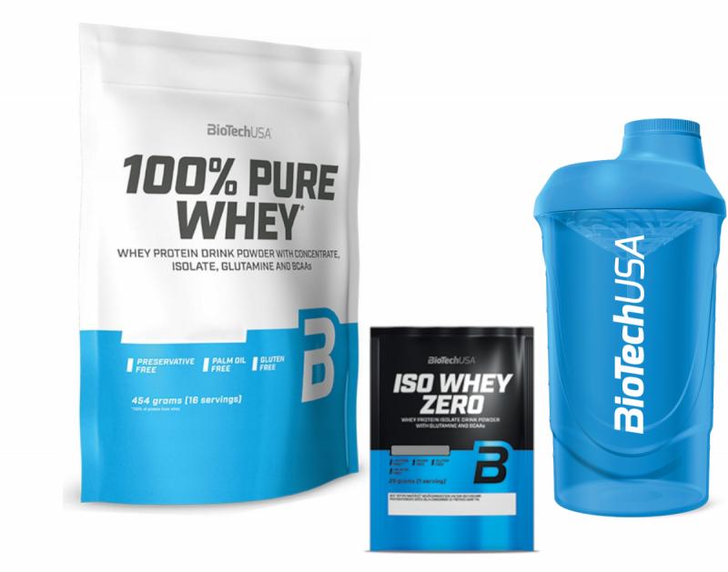 BioTechUSA 100% Pure Whey 454g plus Gratisy