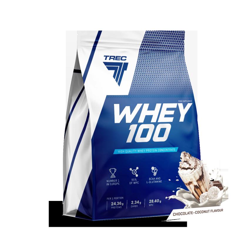 Trec Whey 100 2275g białko smak chocolate coconut