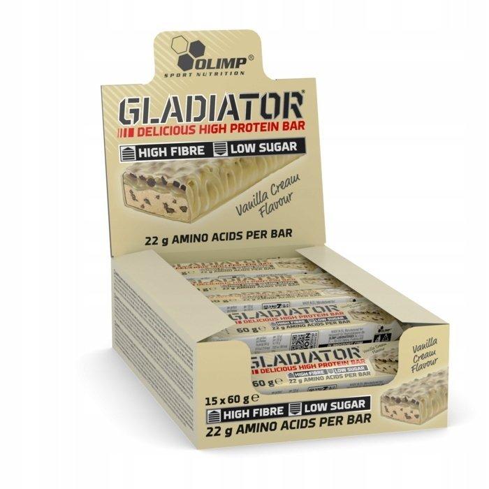 Olimp Baton Gladiator Proteinowy 15szt. Wanilia
