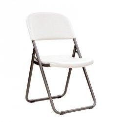 Półkomercyjne krzesło składane Loop Leg (biały granit) 80155