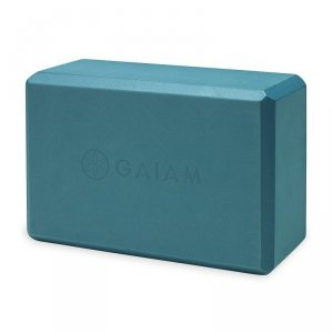 GAIAM KOSTKA DO JOGI Z PIANKI BLUE TEAL 59181