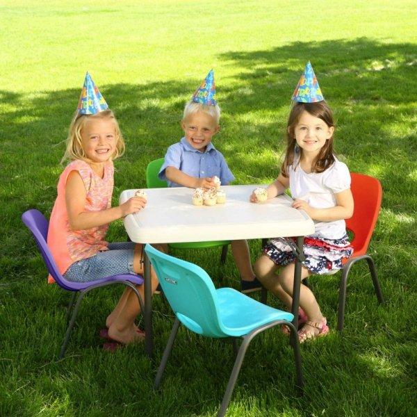 Półkomercyjne krzesło dla dzieci do piętrowania (czerwony) 80511