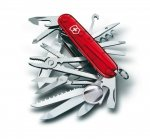 Victorinox SwissChamp (33) 1.6795.T transparent red