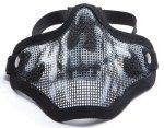 Maska ochronna typu Stalker ASG Lower Half Metal - Black/Skull (18046)