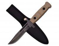 Nóż Master Cutlery Stonewash Serrated Blood Groove Tan (MU-1125DT)