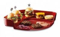 Kamień do pieczenia burgerów czerwony Emile Henry