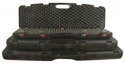 Kufer na broń czarny z zatrzaskiem 125x25x11cm