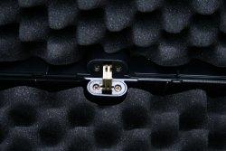 Kufer z zatrzaskiem na broń długą - 110x25x11 cm - czarny