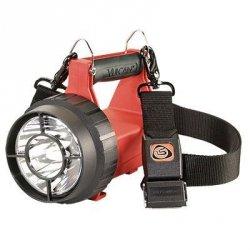 VULCAN LED ATEX Standard System - Latarka z ładowarkami standardowymi 230V AC / 12V DC, 1 statyw ładujący, pasek szybkiego wypięcia, (T-4A), pomarańczowa